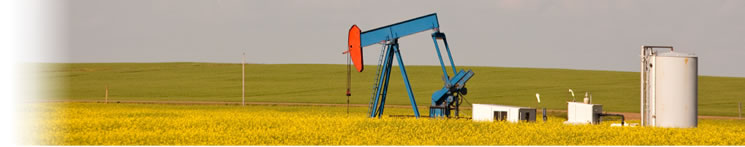 BD Oil gathers oil from tanks filled by pumpjacks!